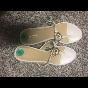 New Michael Kors wedged sandals size 8